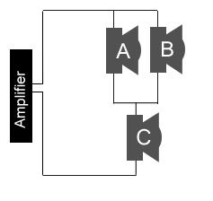 3 Speakers in Series and Parallel configuration