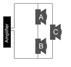 3 Speakers in Series and Parellel configuration